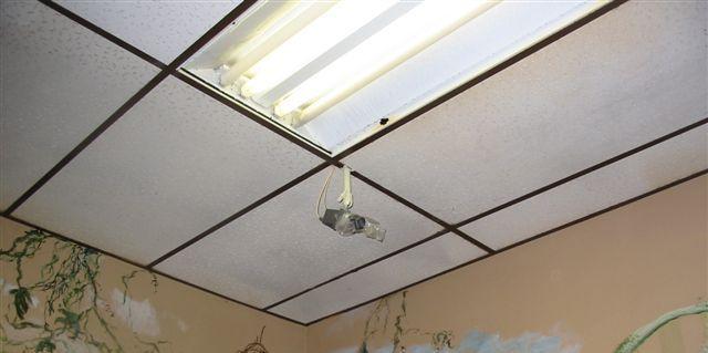 Limpieza en techo registrable
